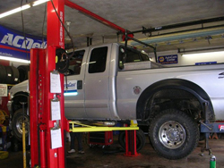 Pickup Truck on Lift